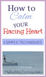 Use these breathing techniques to calm your anxious mind and racing heart.  Breathing techniques as stress relief.   Breathing exercises for anxiety.  