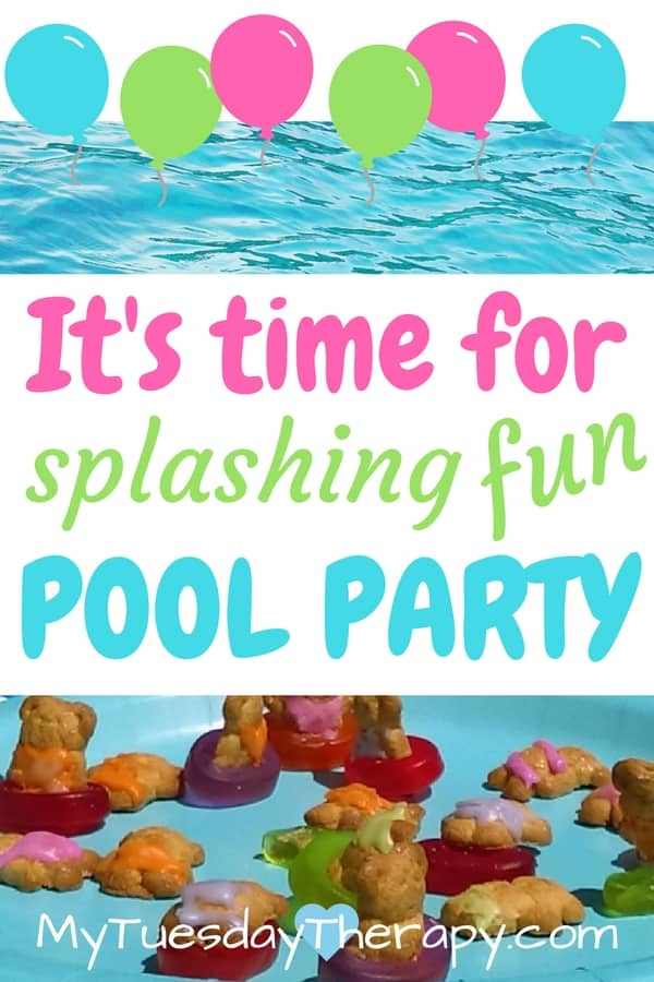 It is time to celebrate the summer with a Pool Party! You don't need an inground pool to have a pool party for little kids. Click through to see the fun pool party plan including some cool snacks! Pool party ideas. Pool party food. Summer fun for kids. Easy summer party.