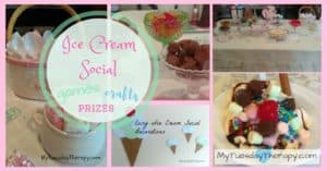 Host an Ice Cream Social with these easy party ideas. Games, Crafts, Prizes | Free Printables | #icecreamsocial #icecreamparty