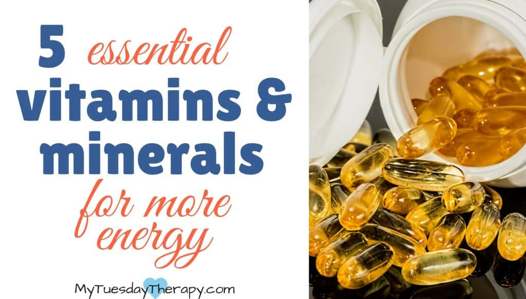 5 essential vitamins and minerals for more energy. Adrenal fatigue treatment.