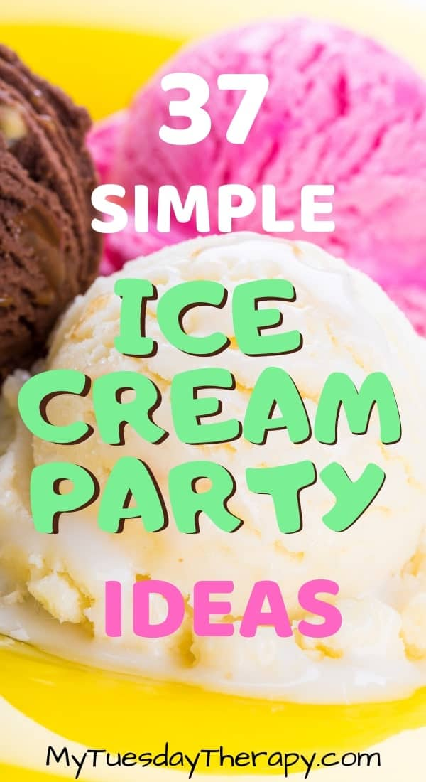 Simple Ice Cream Party Ideas. Host a sweet birthday party or an awesome ice cream social with these ideas.  You\'ll love the ice cream decorations, party games and activities for kids (teens might like some of them too). Make this summer fun! Ice Cream party is a great theme for a baby shower too. Ice cream bar is a fun option for any party!