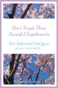 Supplements for Adrenal Fatigue. Supplements for overall health. Enzymes. Probiotics. Vitamin D.