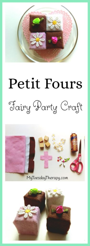 Wooden/Felt Petit Fours. Fairy Party Craft. | Keiju | Lasten Juhla |