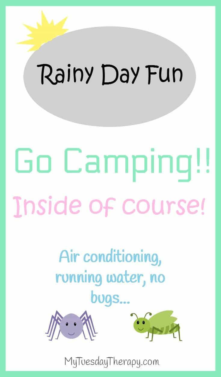 It is raining! What to do? You could read books and eat chocolate... OR Camp inside! Rainy Day Activities. Summer Fun. Family Fun.