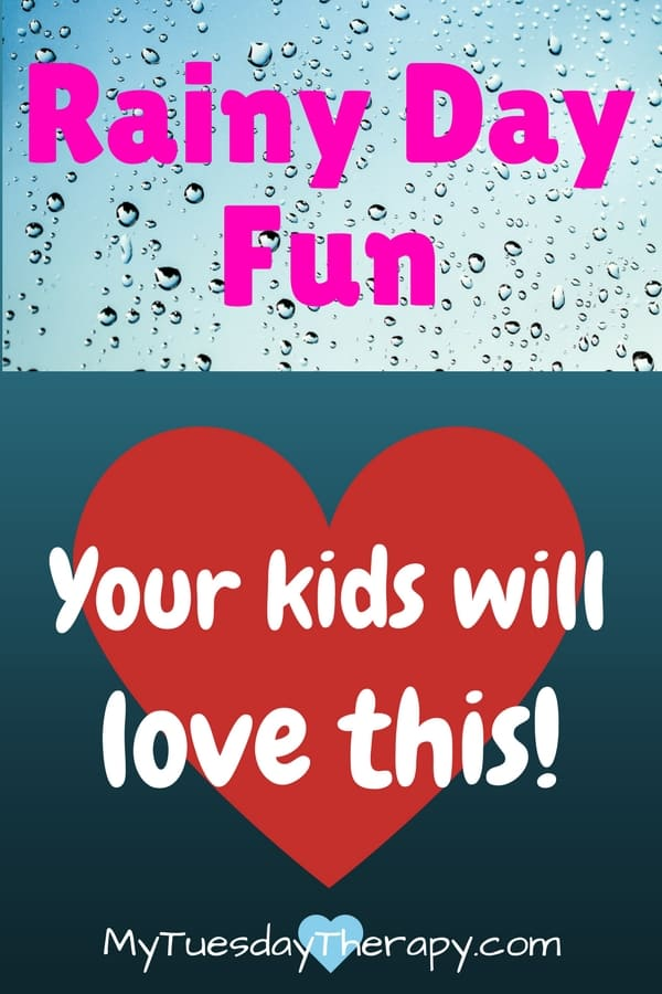 Rainy Day Fun. Your kids will love this. | Rain drops and a heart.