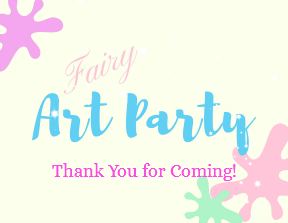 Fairy Art Party Favor Tag