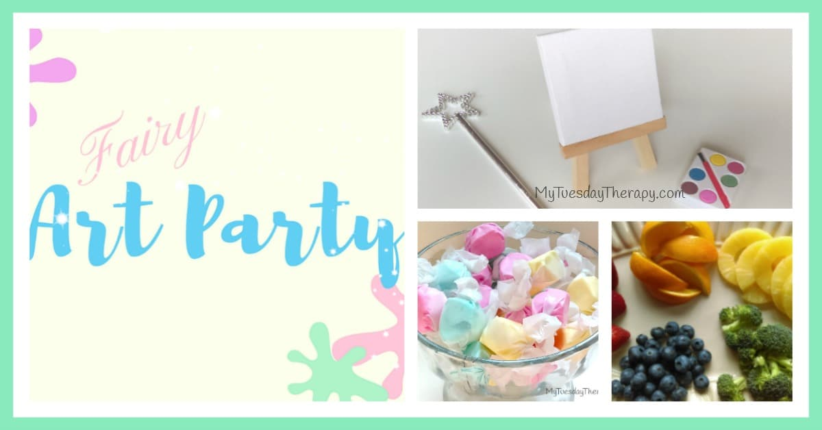 Fairy Art Party | Click through for Fairy Party Ideas for you little artistic Fairy! | Lots of activity ideas! | Fairy Party Games | Fairy Party Food | Free Invitation | Fairy Art Party Favor |