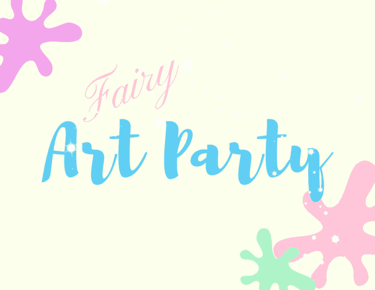 Fairy Art Party Welcome Sign | Click through to find creative ideas for your Fairy Art Party | Fairy Party Games | Fairy Party Food | Fairy Party Activities |