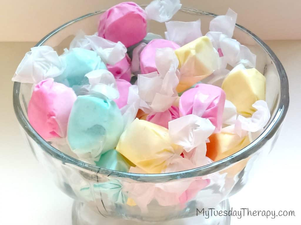 Fairy Art Party | Fairy Party Food | Salt Water Taffy | Click through for Fairy Party Ideas: games, food, activities. |