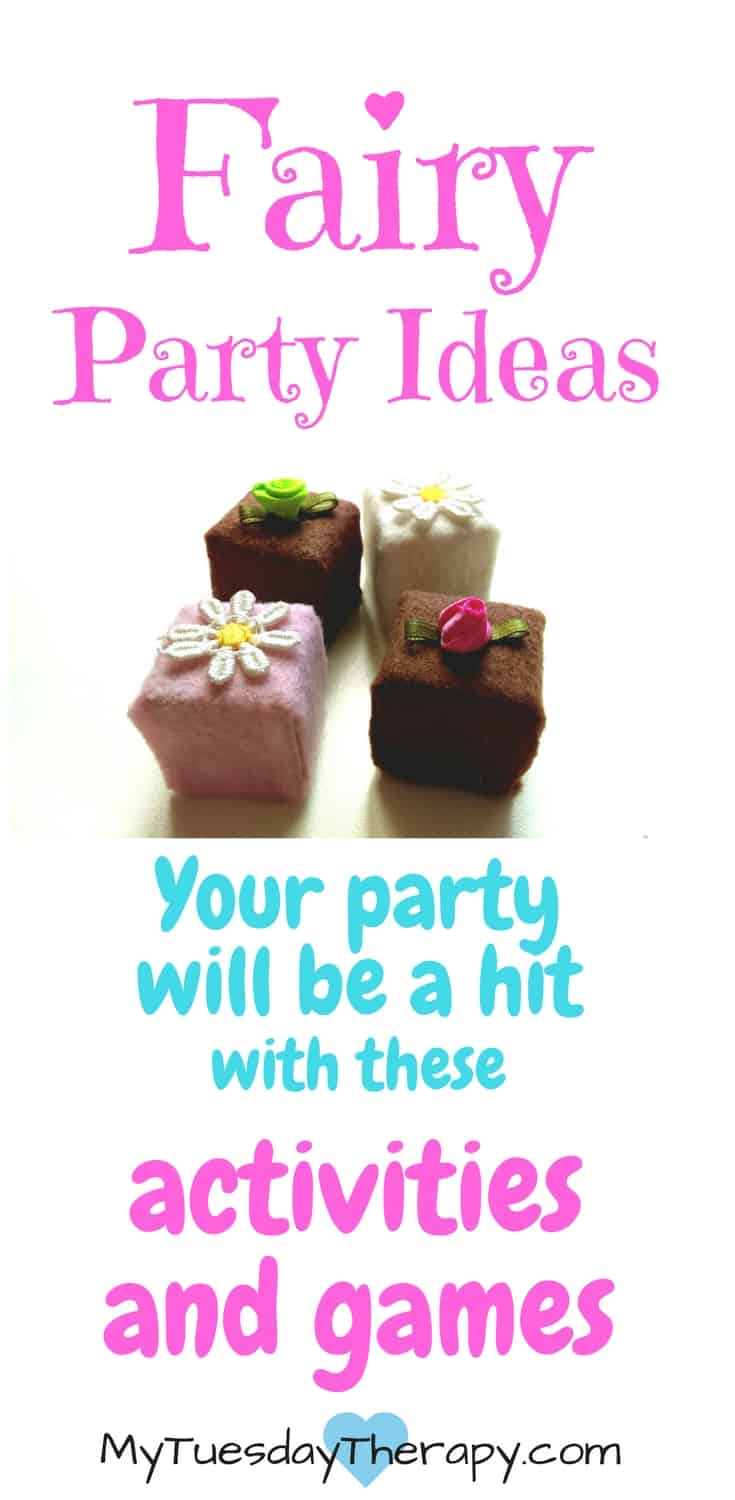 Fairy Party Ideas   The little fairies will love to prepare delicious desserts, and enjoy them sitting on flower pillows. They will also have fun listening to a fairy story, preparing play desserts, and playing sweet games.   Fairy Party Decorations   Fairy Party Games   Fairy Party Food   Fairy Book   #fairyparty #birthdayparty #funforkids