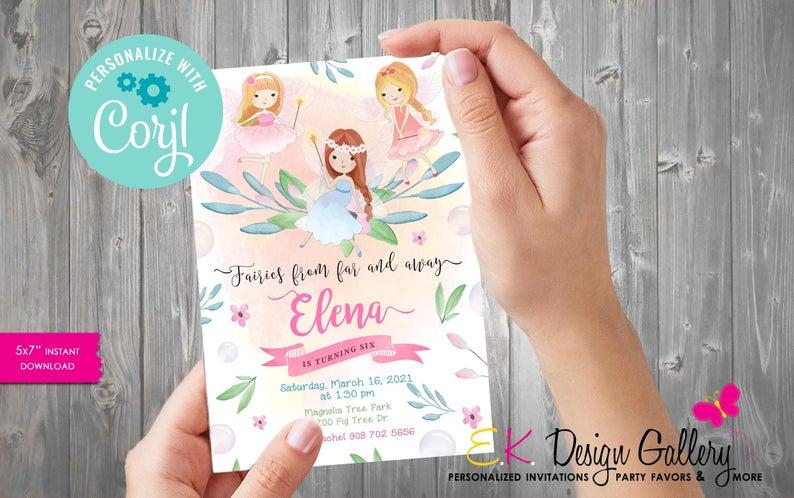 Fairy Party Invitation (EKDesignGallery)