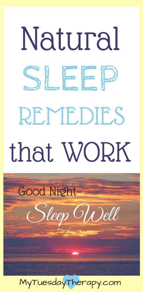 These natural sleep remedies work!