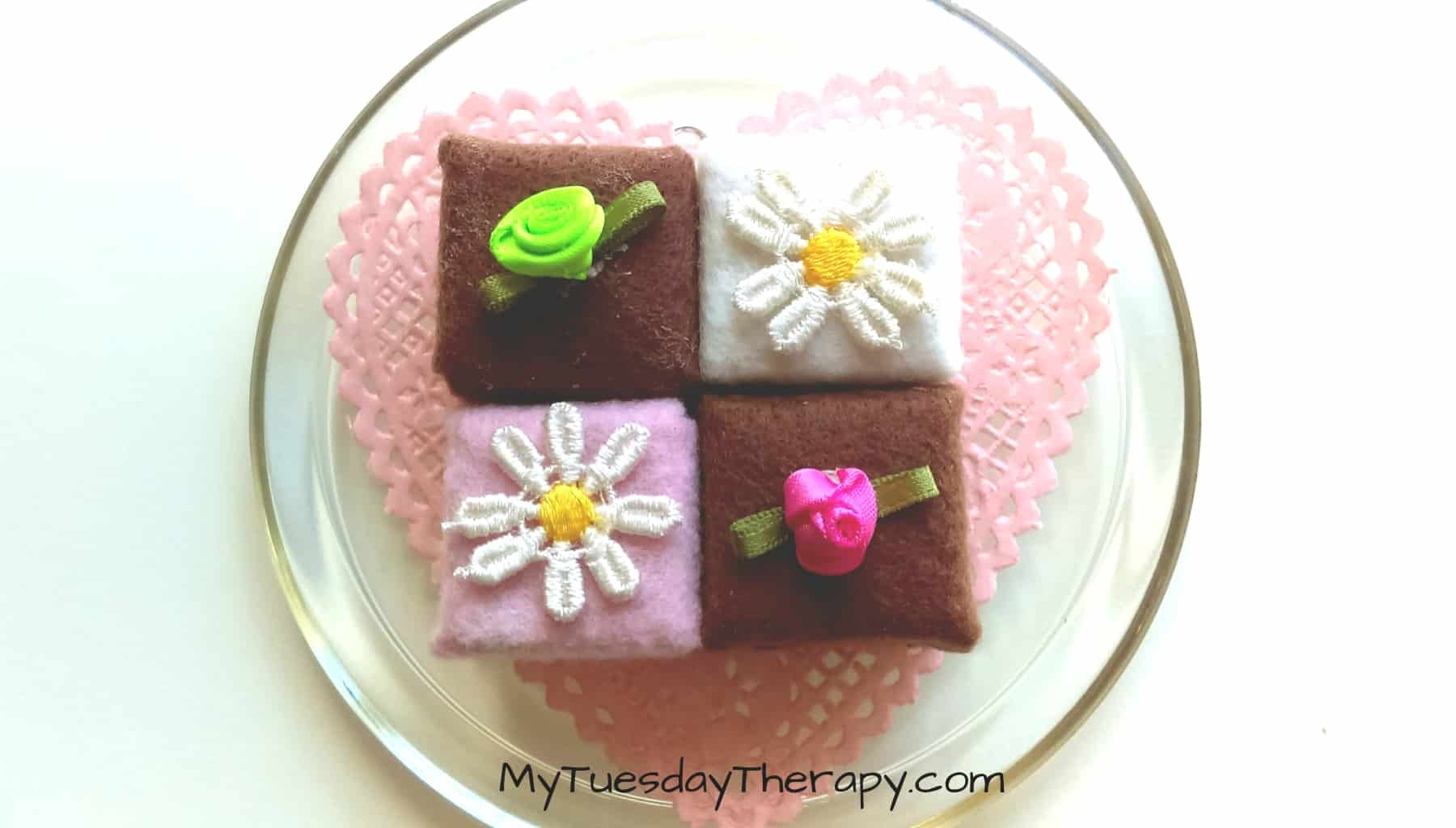 Petit fours. No Sew Play Food.