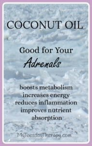 A couple of ways to add some coconut oil in your diet. Coconut Oil is good for your adrenals. Boosts metabolism, increases energy, reduces inflammation, improves nutrient absorption. | Adrenal Fatigue natural remedies | HPA axis dysregulation |
