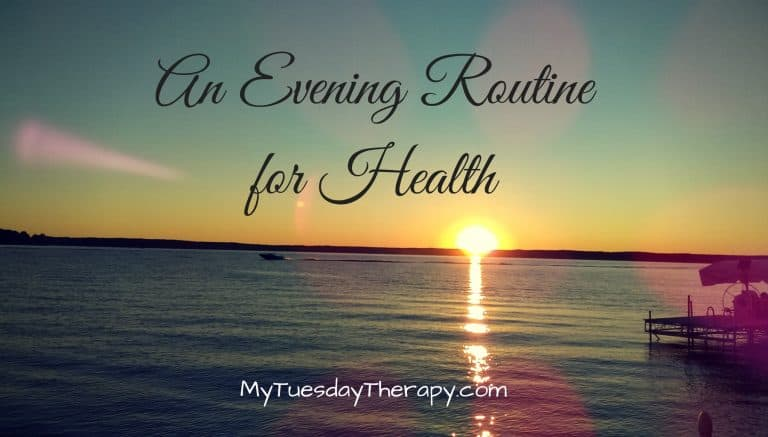 An evening routine for health. This routine helped me to recover from a chronic fatigue.