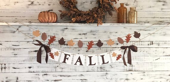 Fall Decorations. Fall Banner to celebrate the beauty of the autumn.