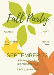 Fall Party Invitation.