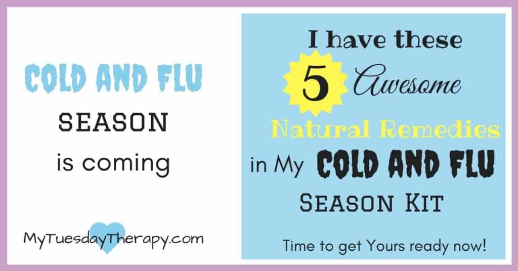 Natural Remedies for cold and flu. I have these 5 awesome natural remedies in my cold and flu season kit. Time to get yours ready :)! | Immune System Boost | #naturalremedies #immunesystem