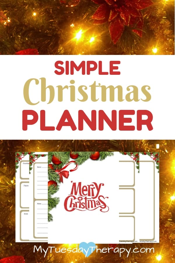 Simple Christmas Planner Printable.