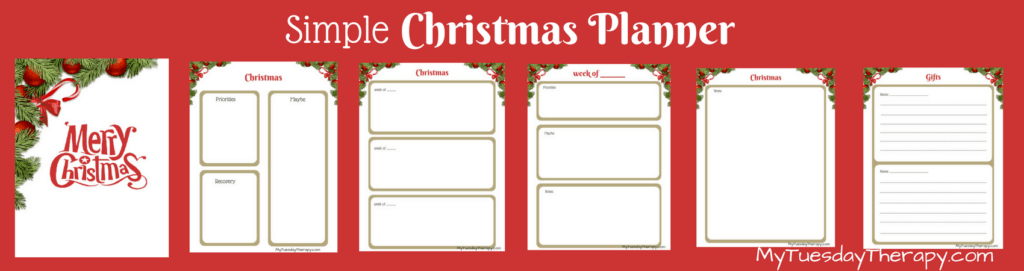 Simple Christmas Planner