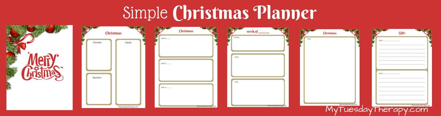 Simple Christmas Planner