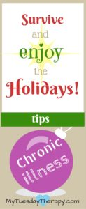 Don't dread the Holidays! With these simple tips you will not only survive but also ENJOY the Holidays!   Survive the Holidays with Chronic Illness   Chronic Fatigue #Christmas #survivetheholidays #chronicillness #adrenalfatigue