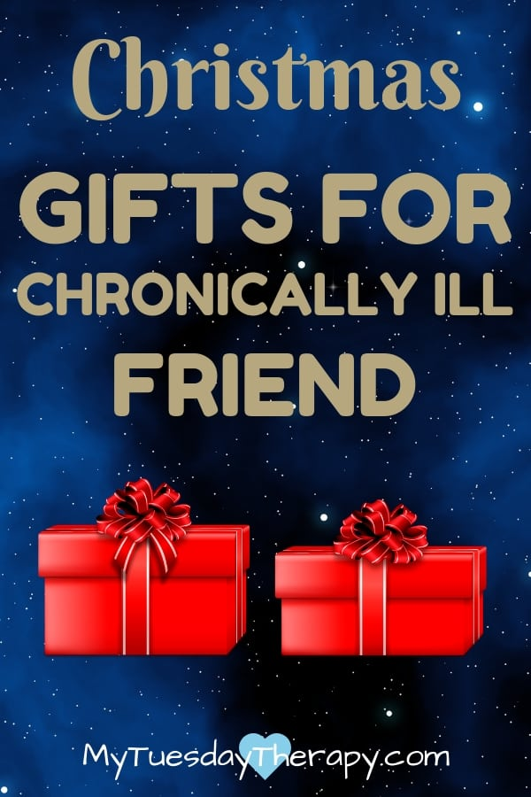 Thoughtful, fun practical gift ideas for your chronically ill loved one. Gift ideas for friend who has a chronic illness.  Exhausted. Chronic Fatigue. Bring Christmas Cheer with these wonderful presents.