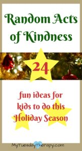 Random Acts of Kindness for Holidays. | Christmas fun for the kids | Gifts kids can give |