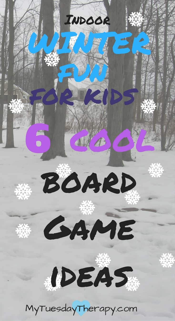 Playing in the snow is fun but so is playing these cool winter themed board games with your kids! | Snow Day | Indoor Activities for Kids | #rainyday #kidsactivities #boardgames
