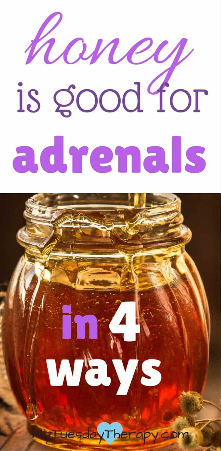 Honey has many health benefits. These 4 are important for adrenal fatigue. #adrenalfatigue #chronicfatigue #naturalremedies #honey