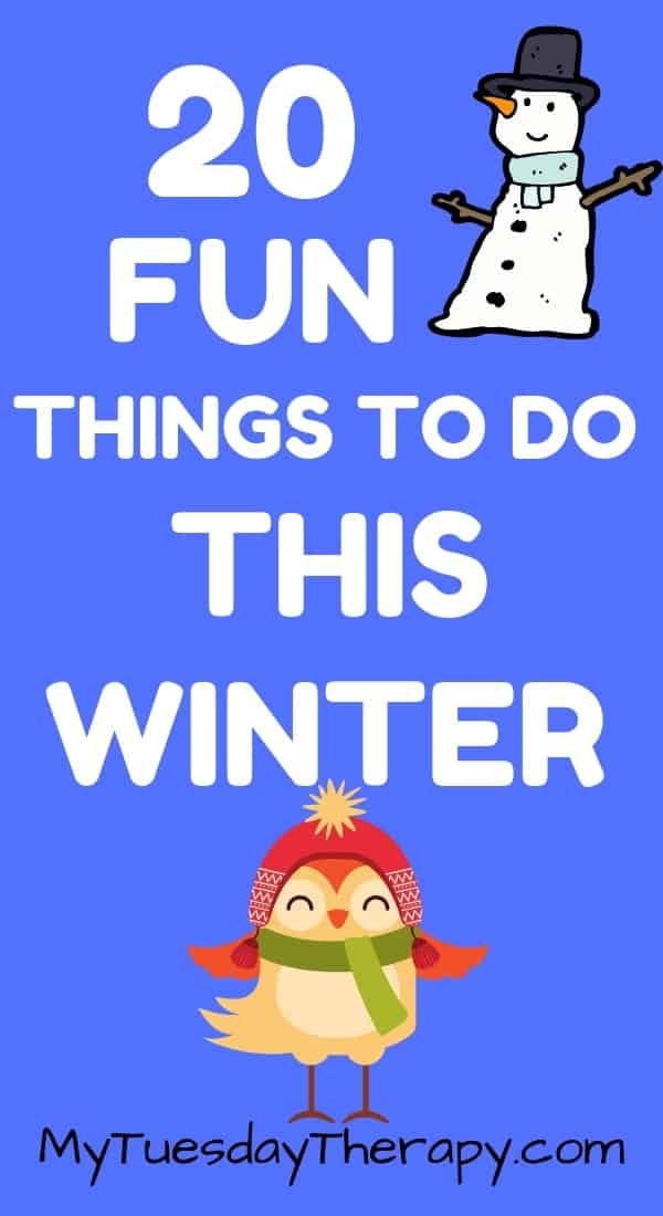 Winter Bucket List for Kids. Winter Bucket List for Teens.