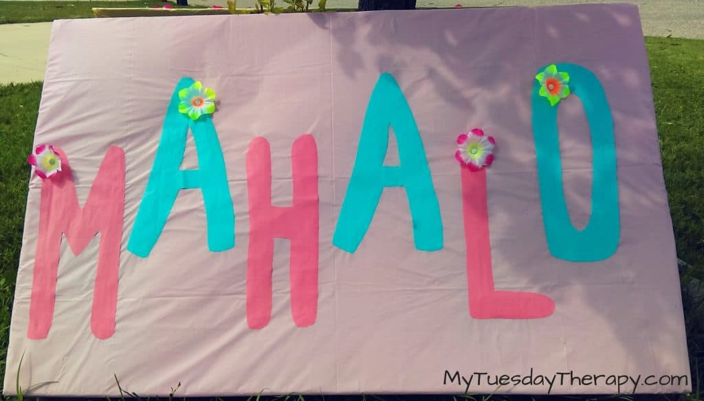 Mahalo sign. | DIY Luau Decorations |