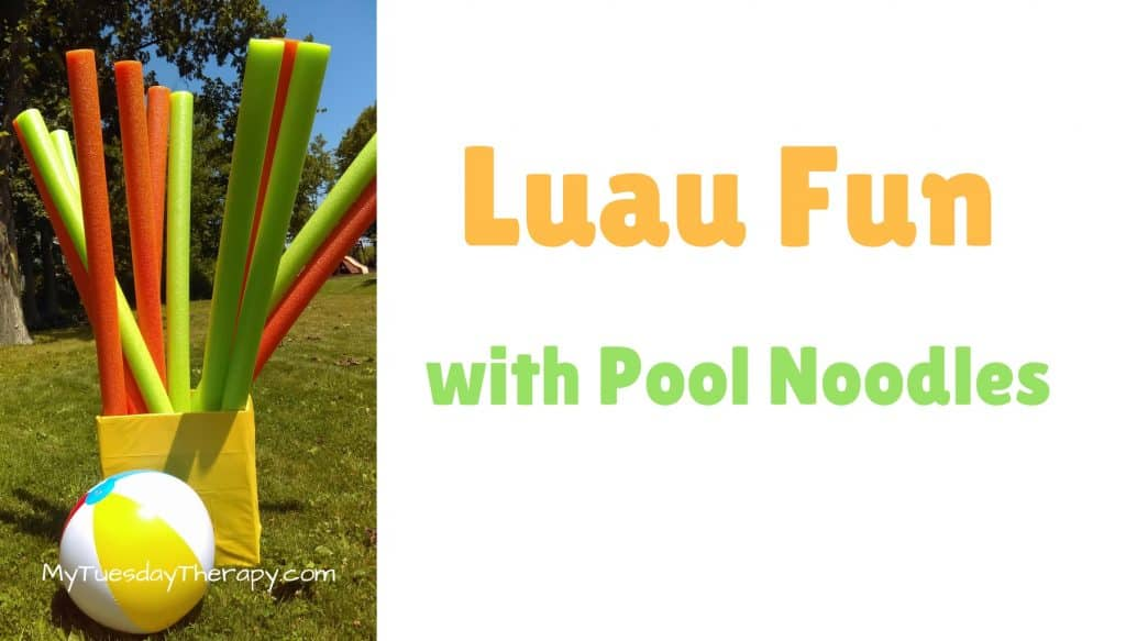 Luau Game Idea: Pool Noodle Hockey.