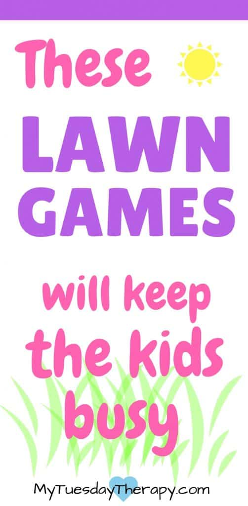 These lawn games will keep the kids busy this summer! Family fun that keeps you moving.