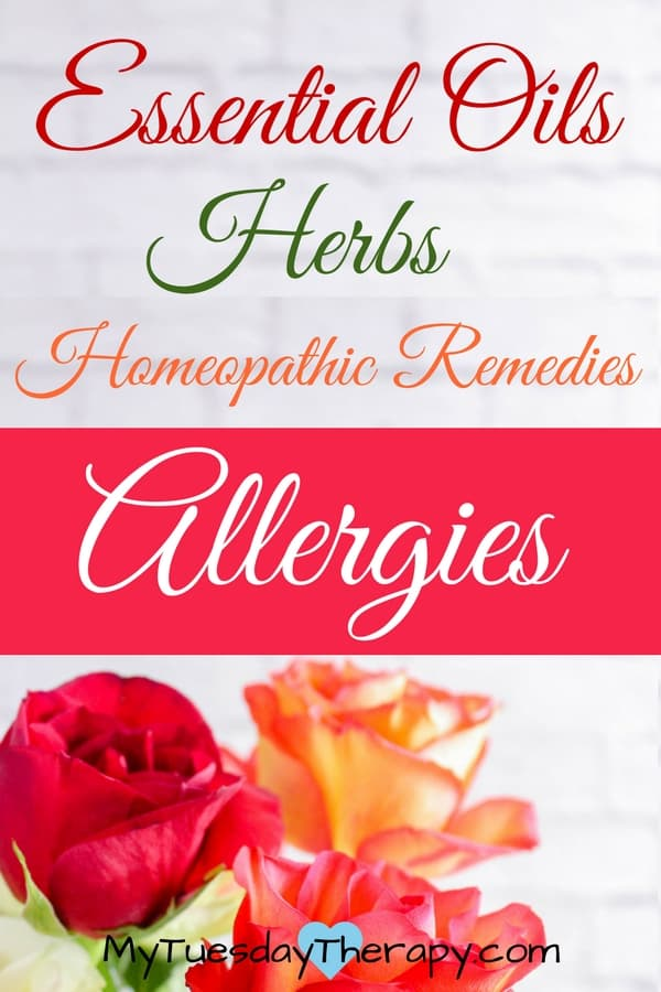 Allergy relief essential oil, homeopathic remedies and herbs.