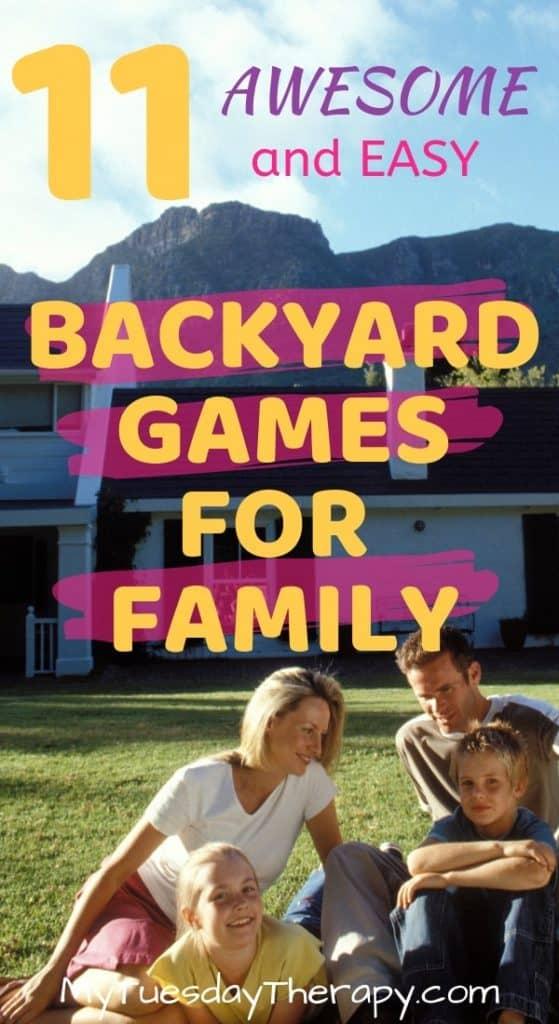 Backyard Games for Family. Jumbo games, easy games...