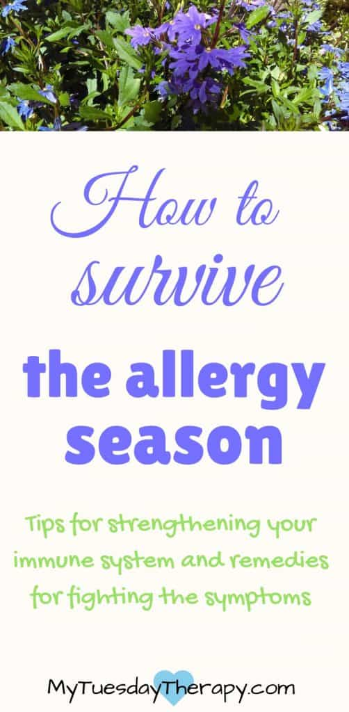 How to survive the allergy season. | Immune system | Best natural allergy remedies | Seasonal allergies | #allergies #adrenalfatigue #naturalremedies