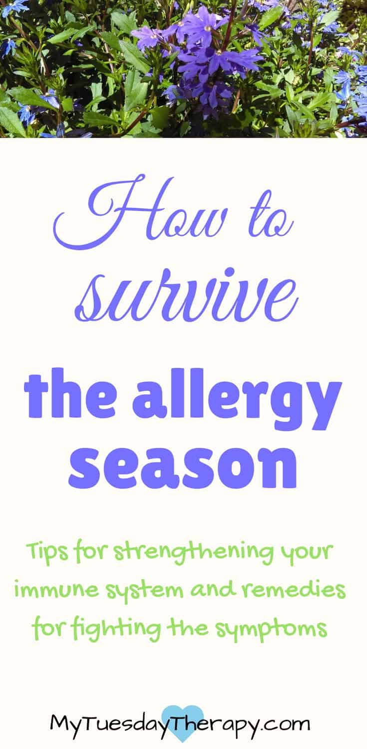 Strengthen your immune system and fight the symptoms with these natural allergy remedies. #allergies #naturalremedies #adrenalfatigue #immunesystem