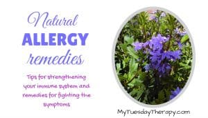 Natural Allergy Remedies. Tips for strengthening your immune system and remedies for fighting the symptoms.