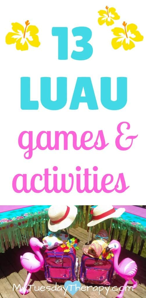 Easy Luau ideas that are sure to entertain your guests. Several ideas for Luau games, decorations, and food. | Summer Fun | Summer Parties #luau #summerfun #familyfun