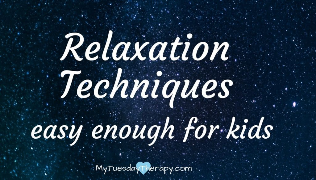 Relaxation techniques. Easy enough for kids. (image: starry sky)
