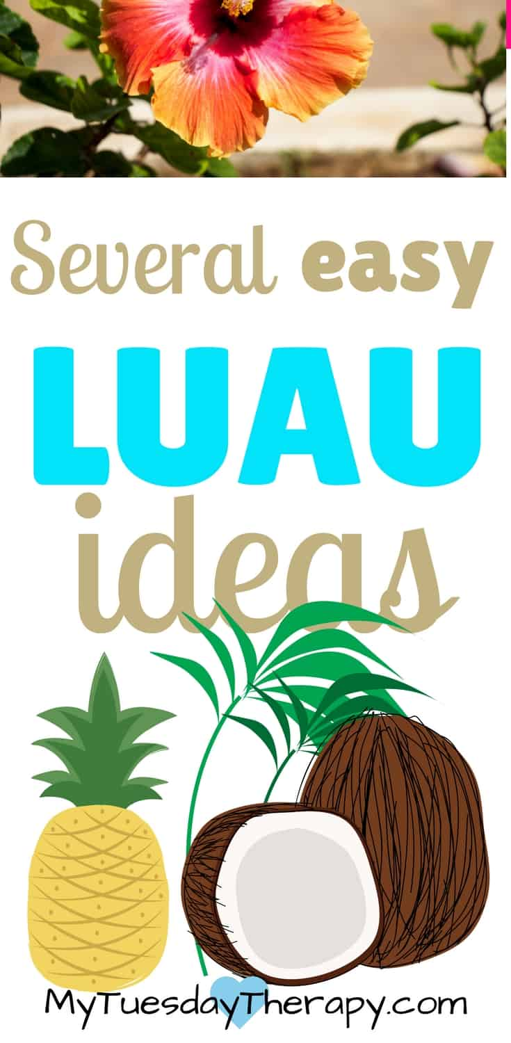Host an easy, fun Luau with these ideas for decorations, games, and food! #luau #summerfun