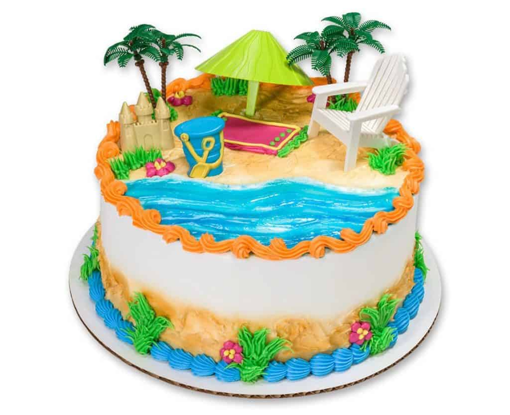 Luau Party Cake Topper (cake world usa) Hawaiian birthday party ideas.