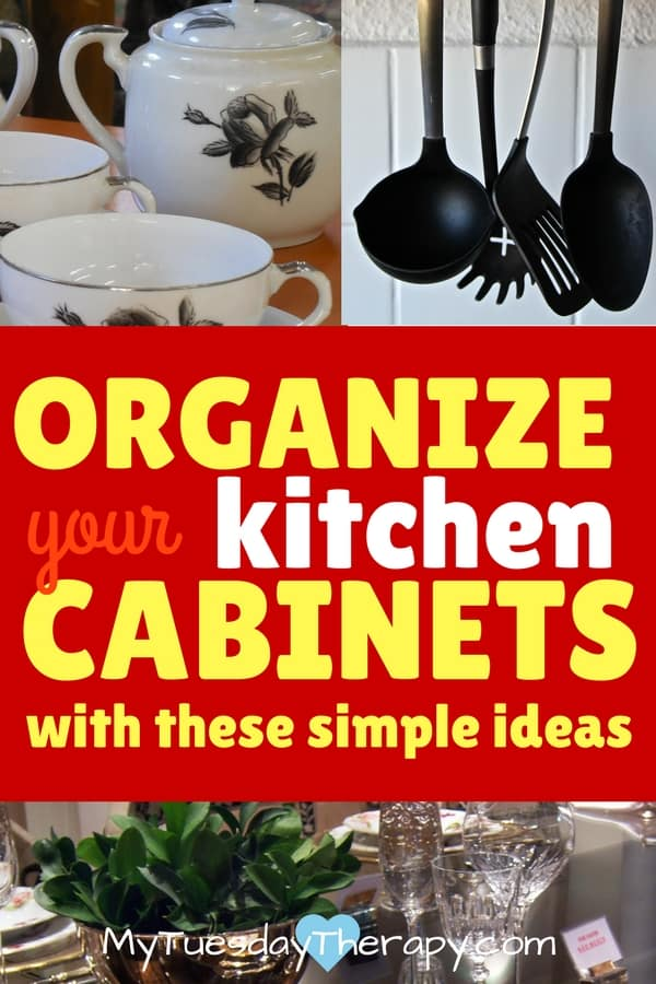 Organize your kitchen cabinets with these simple ideas.