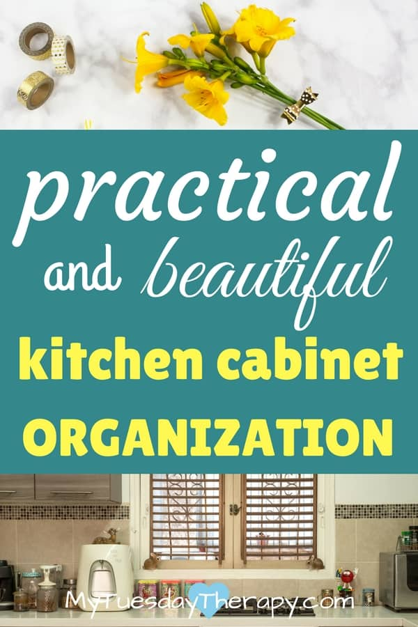 Practical and beautiful kitchen cabinet organization