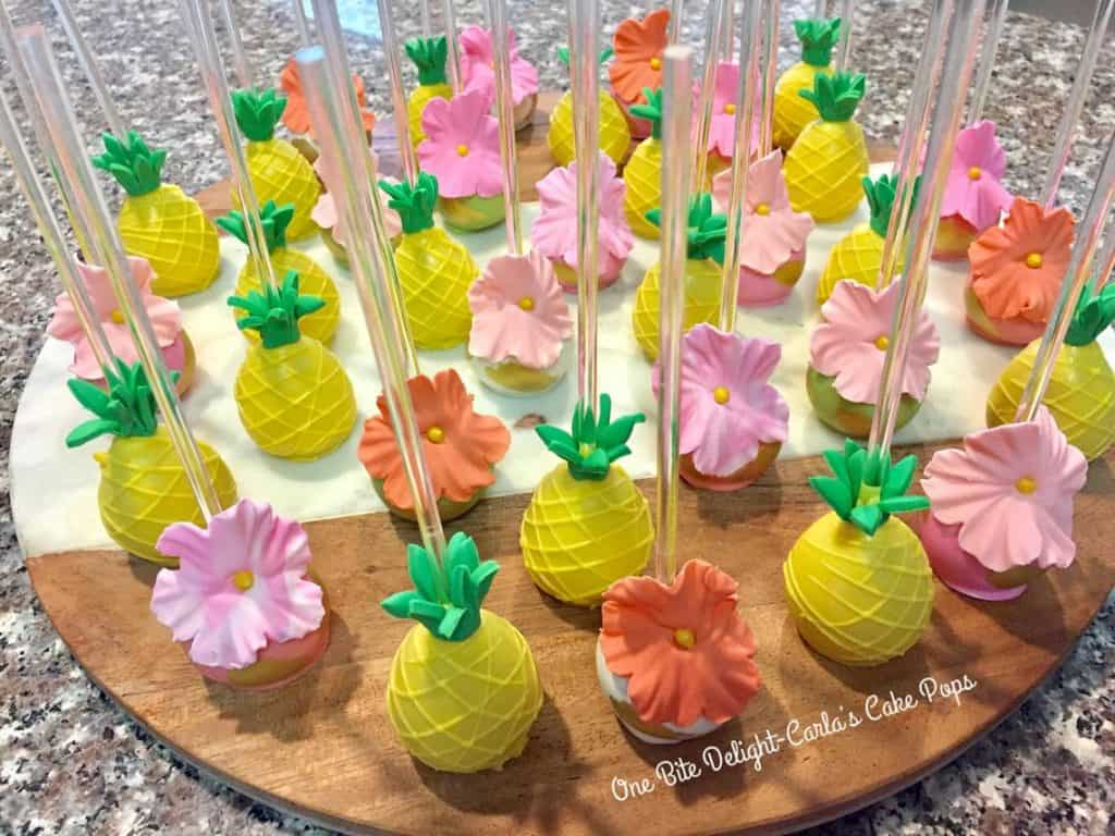 Luau Food Ideas: Cake Pops (carla cake pops)