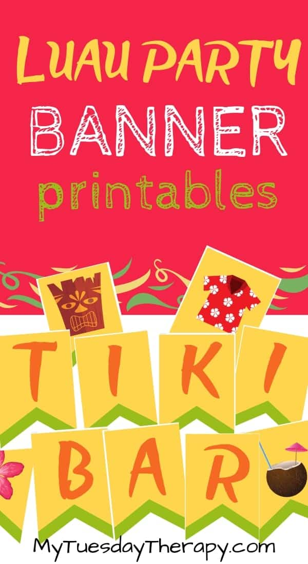 Luau Banner DIY. Luau Decoration Ideas.