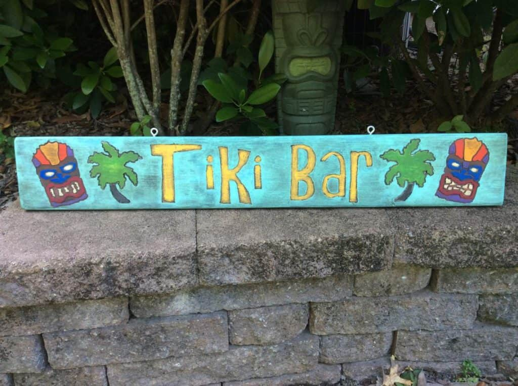 Tiki Bar Sign. Luau Party Ideas for Adults (whittle imagination etsy)