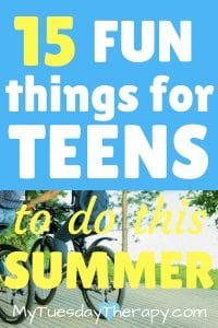 Summer bucket list for teens and tweens!