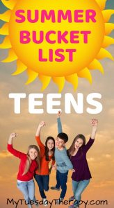 Summer Bucket List For Teens.